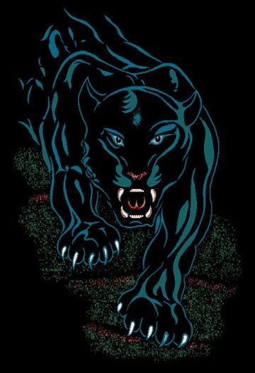 Black Panther Tribal Tattoo Jaguar Area Rug Modern African