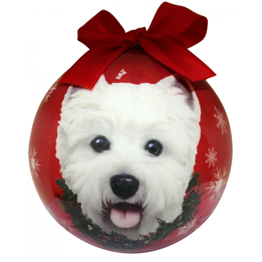 Westie Christmas Ball Ornament West Highland Terrier Dog Christmas Ornaments Westies