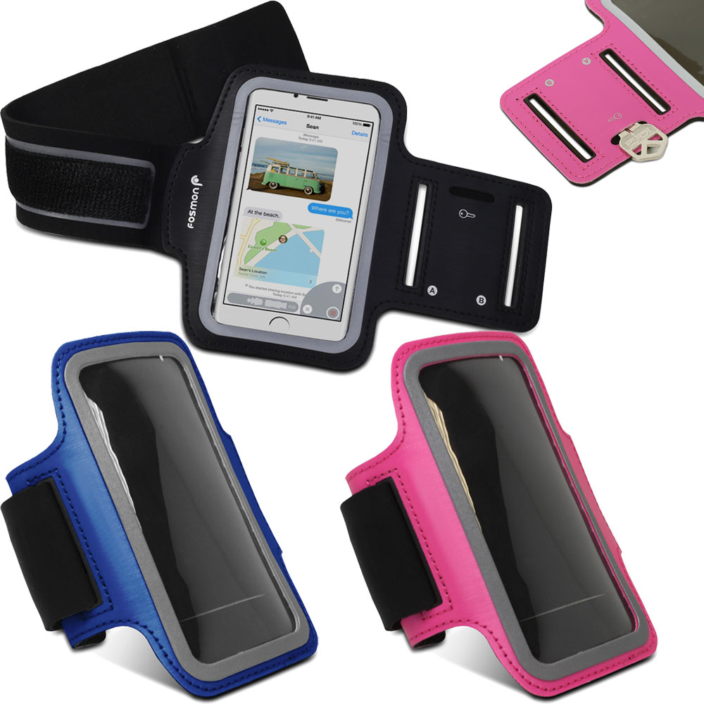 iphone running case fosmon for iphone 6 6s 4 7 sports armband running 12260