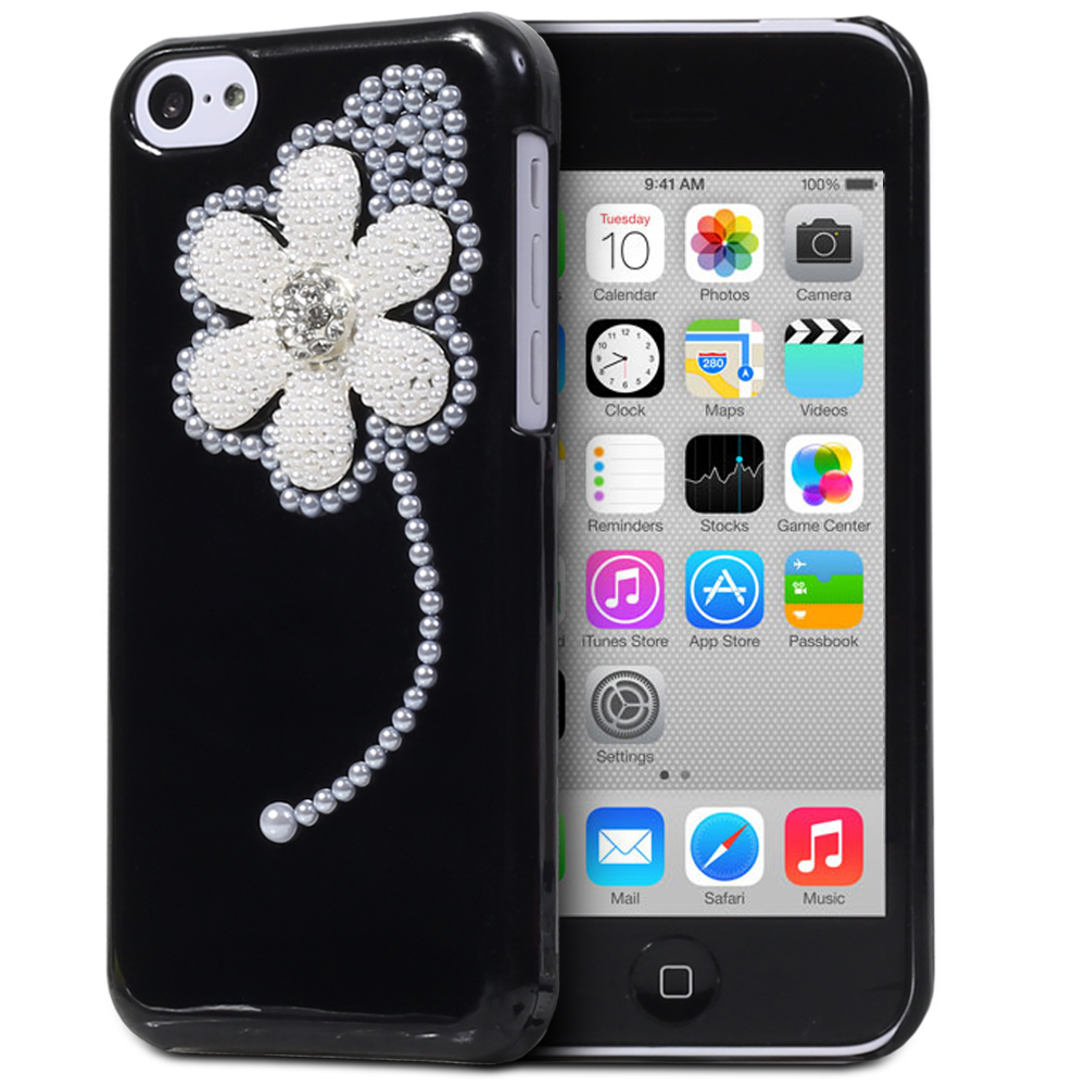 3d iphone 5c cases for apple iphone 5c 5c pearl bling 3d fashion snap on 13345