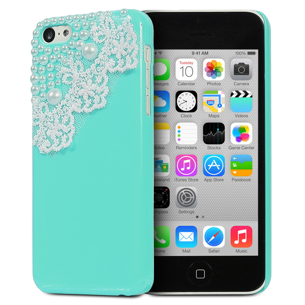 cute iphone 5c cases fosmon 3d bling rhinestone 13931