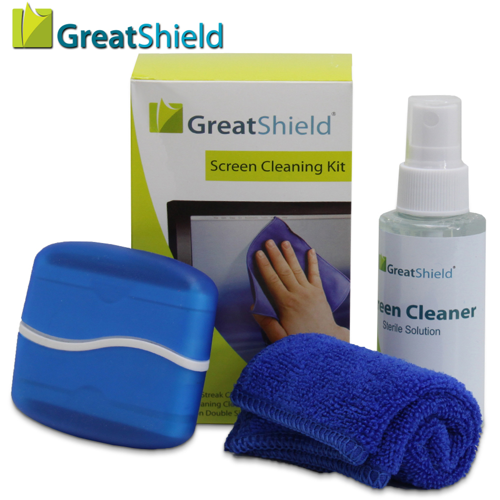 greatshield 3in1 screen display cleaning kit for lcd led. Black Bedroom Furniture Sets. Home Design Ideas
