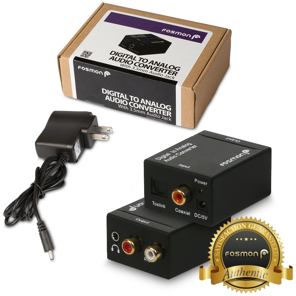 Fosmon Digital Coaxial Optical Toslink SPDIF to Analog L R ...