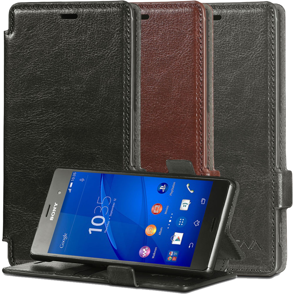 For Sony Xperia Z3 Vena® Luxury Leather Wallet Fold Case ...