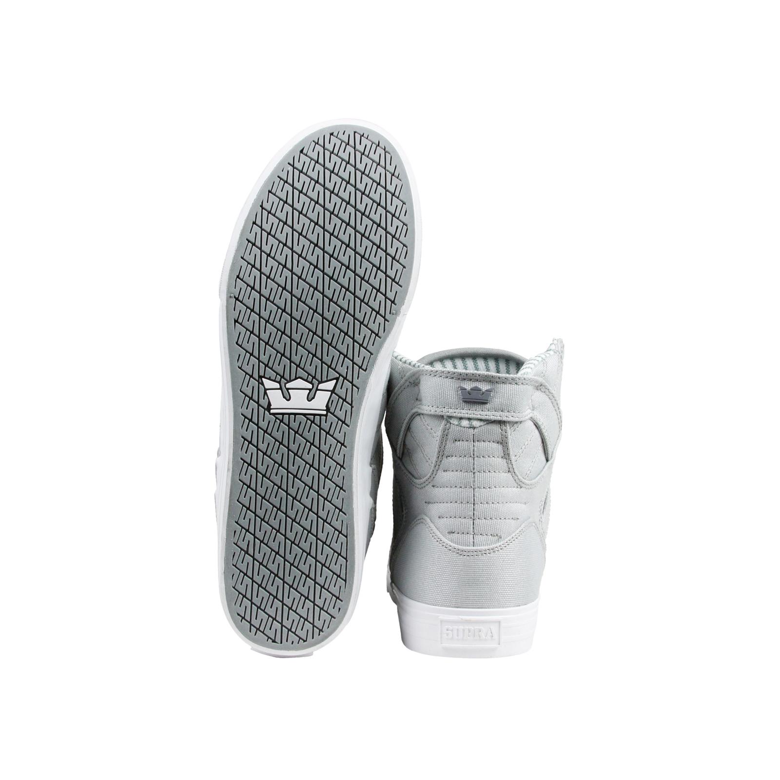 supra skytop spitzen mens graue leinwand hoch oben spitzen skytop bis sneakers, schuhe f74bea