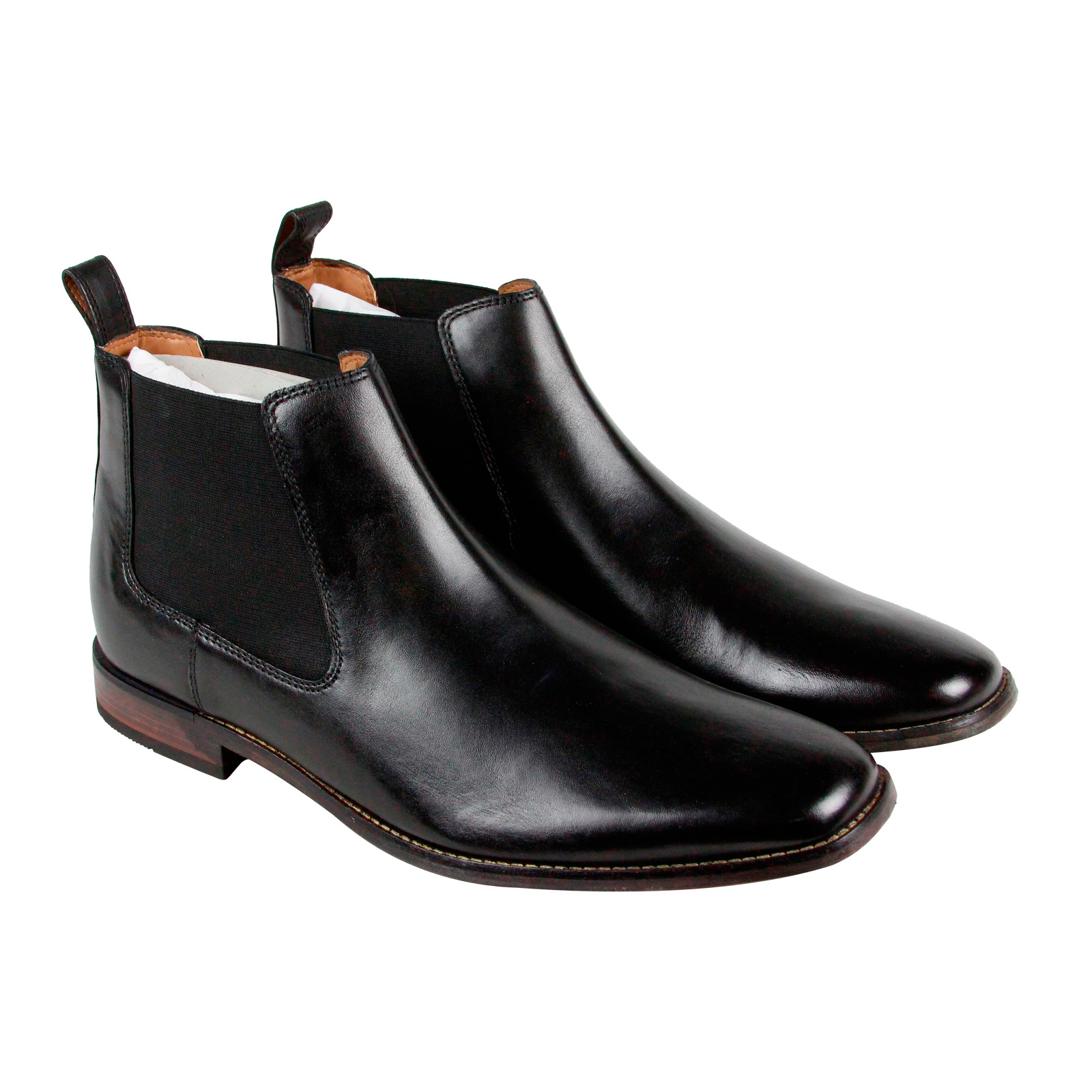 Clarks Narrate Plain Mens Black Leather Casual Dress Slip ...