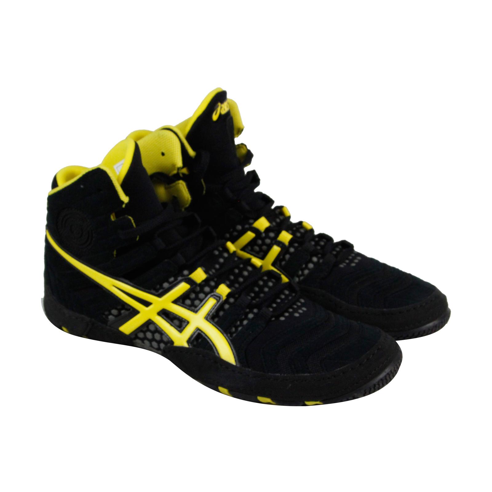 Asics Dan Gable Ultimate 4 Mens Black Suede Athletic Wrestling shoes