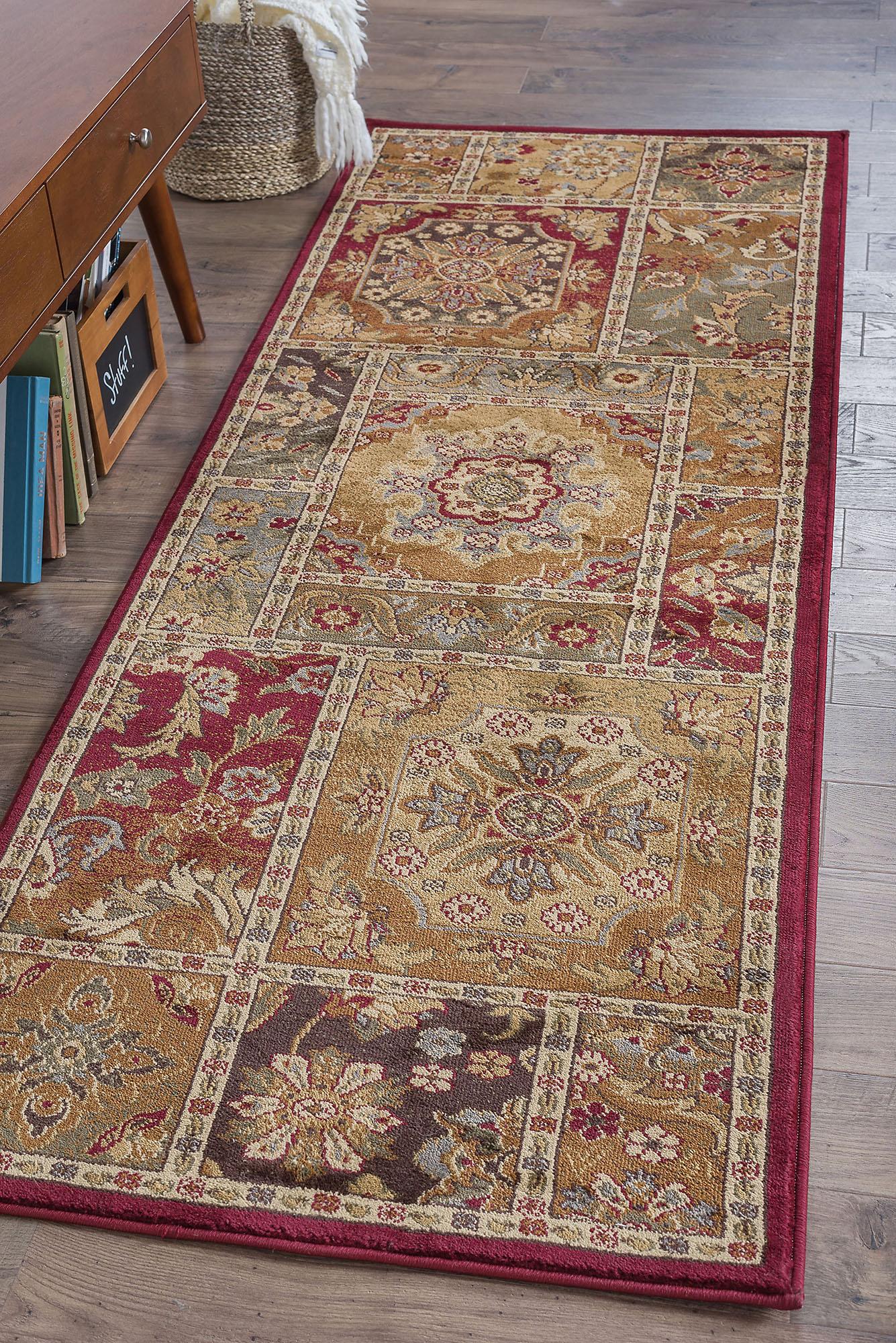 Multi-Coloree Oriental Transitional Area Rug 2x7 Carpet  Actual 2' 7  x 7' 3