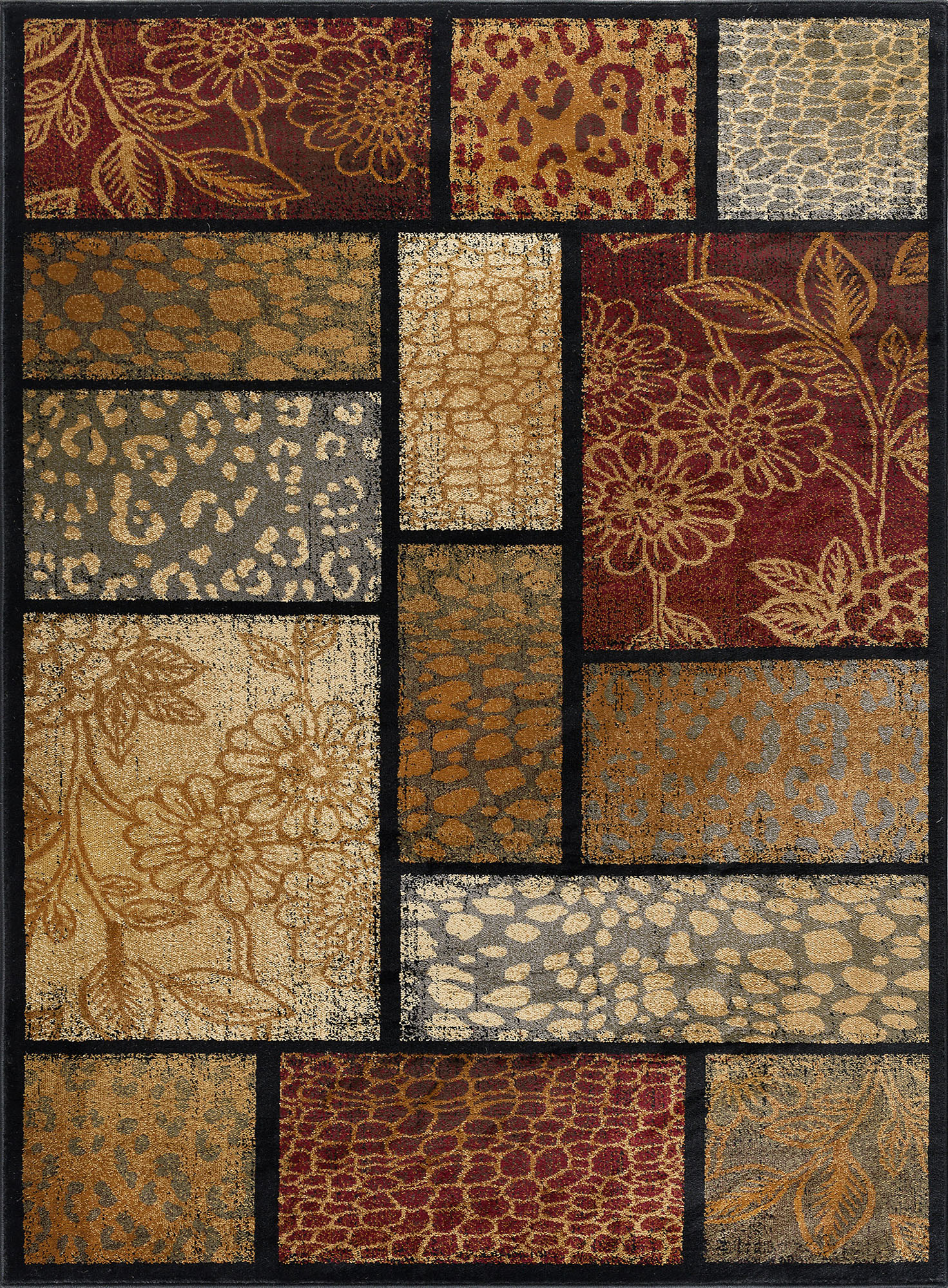 Multi Color Patchwork Modern Area Rug Squares 8x10 Carpet