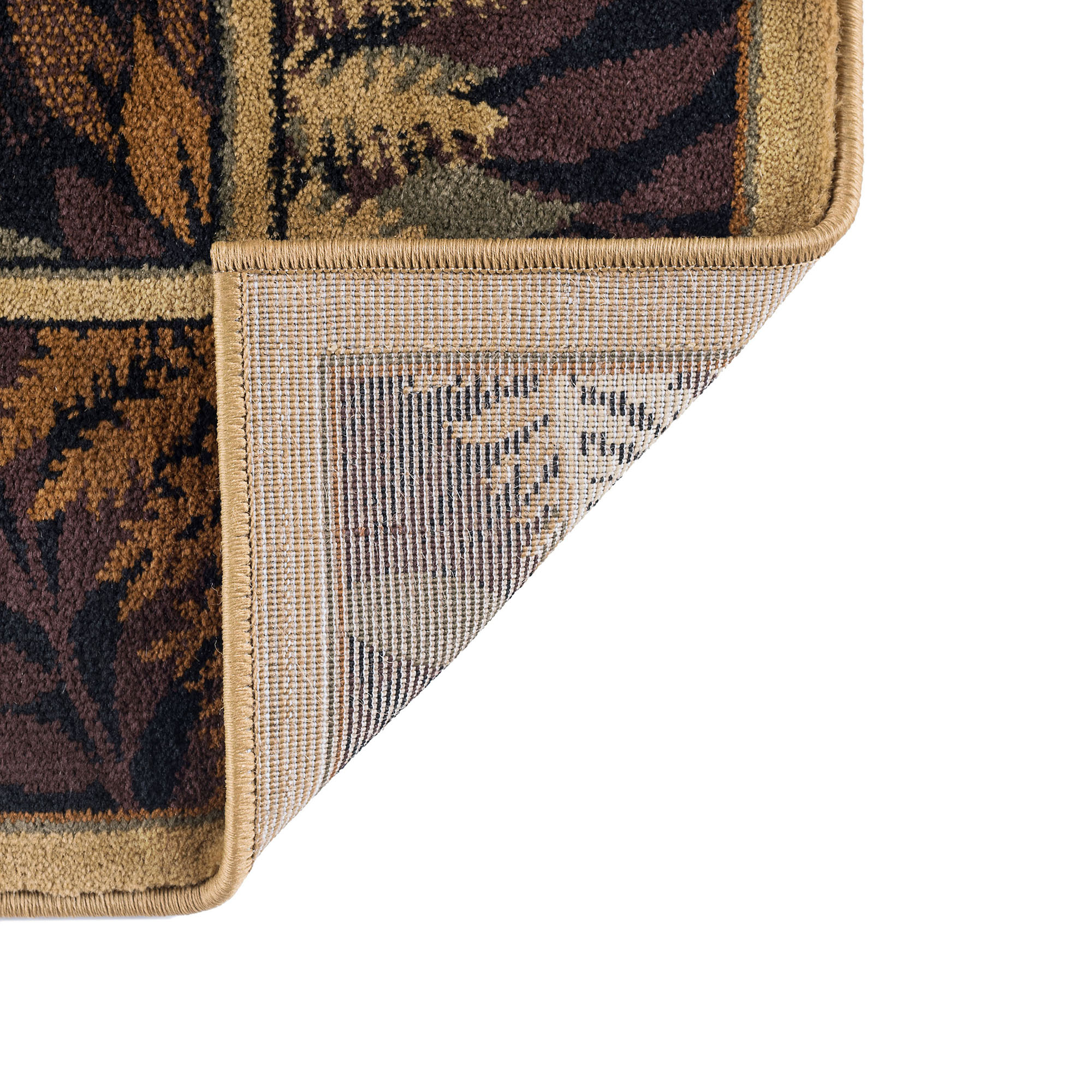 Beige Southwestern Lodge Trees Woods 2x7 Runner Area Rug