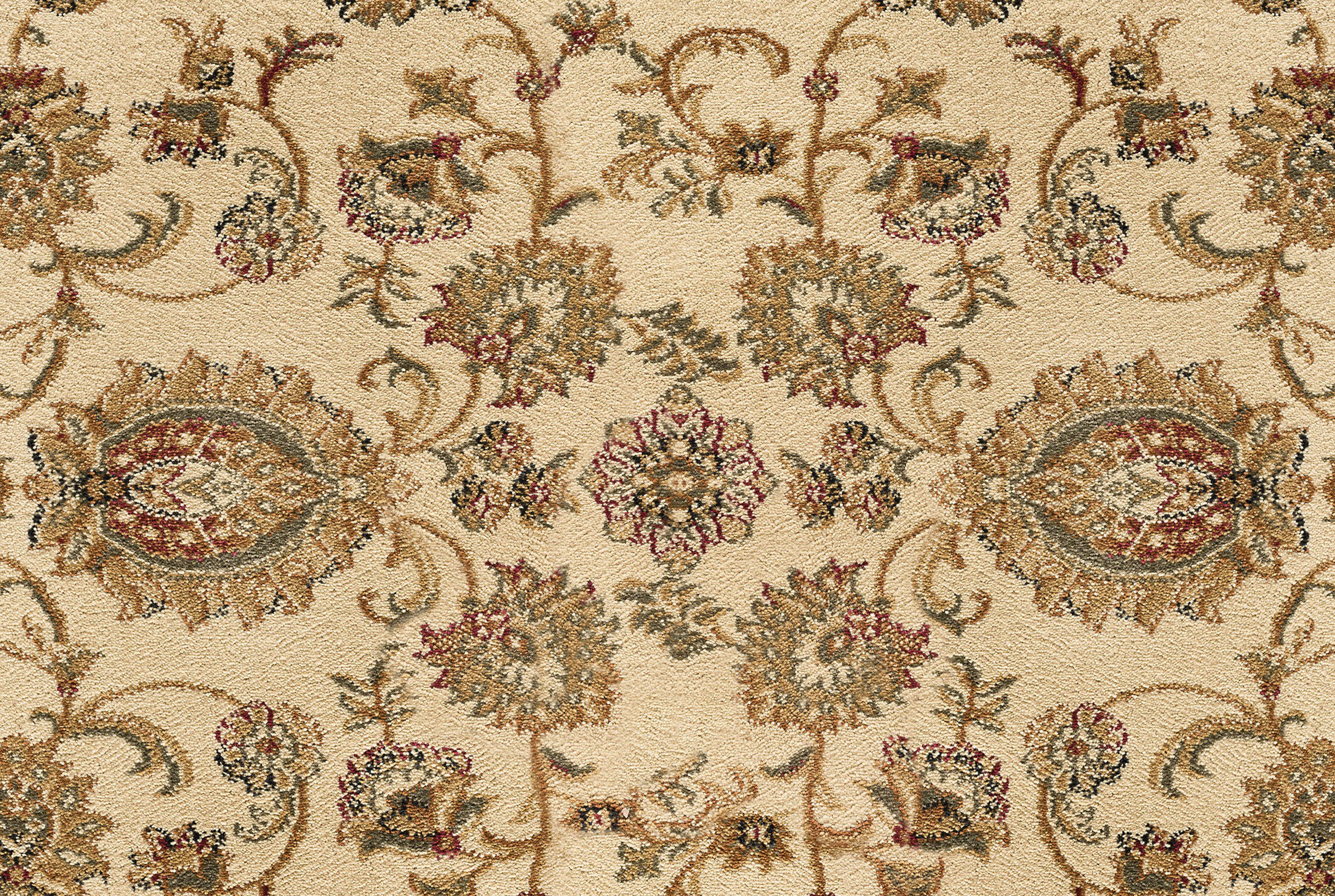 Traditional Ivory Sage Green Border 6x8 Oval Area Rug