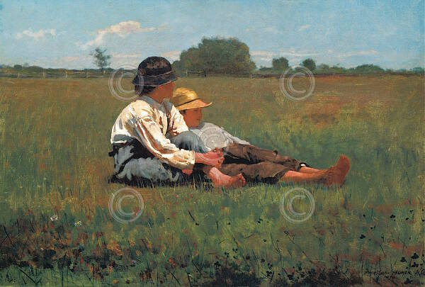 Boys in a Pasture Winslow Homer Children Country Summer ...