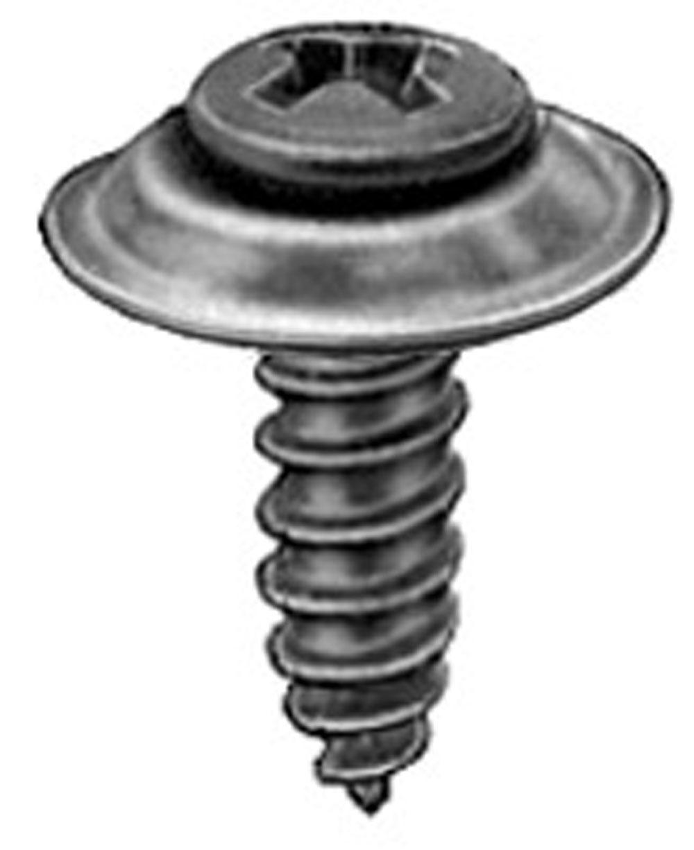 #14 X 3//4 Hex Head Zinc Tag Screws Clipsandfasteners Inc 500 License Plate Screws 1//4