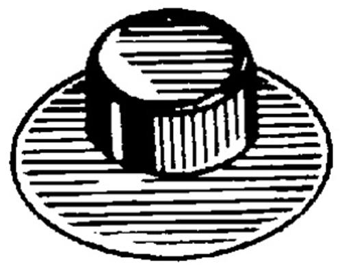 Phosphate Clipsandfasteners Inc 50 M14-2.0 Pushnut Bolt Retainer 25mm O.D