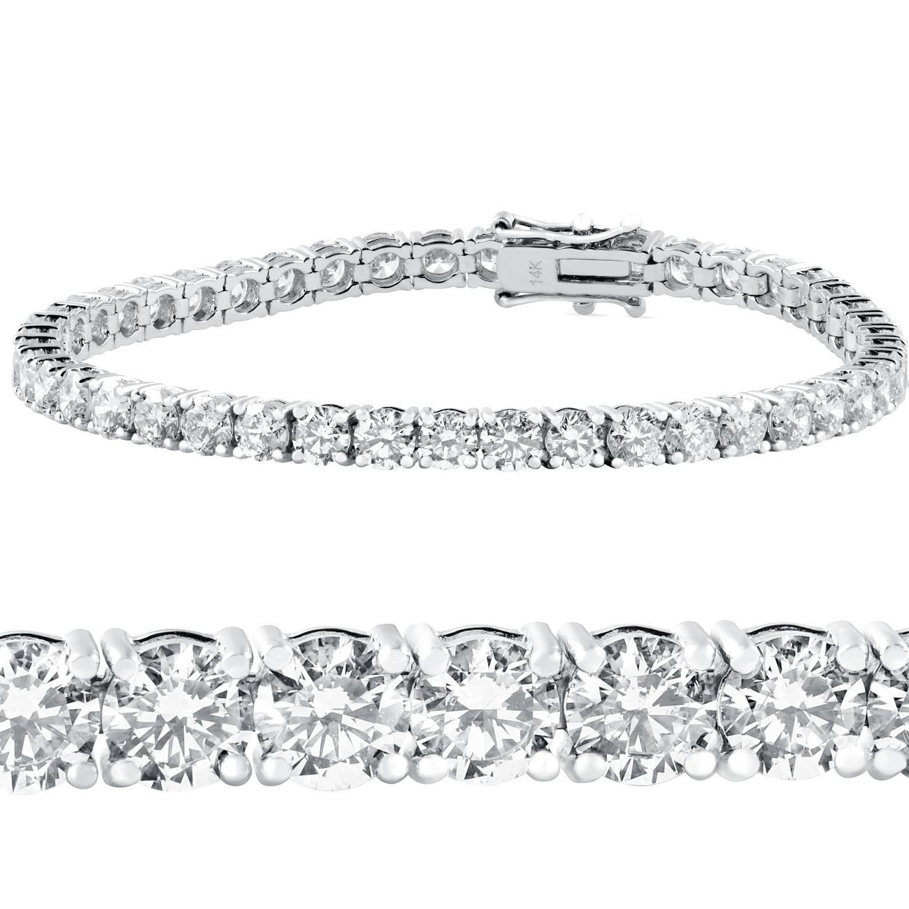 715fc7fcb3e Details about 10 ct Diamond Tennis Bracelet 14k White Gold 7