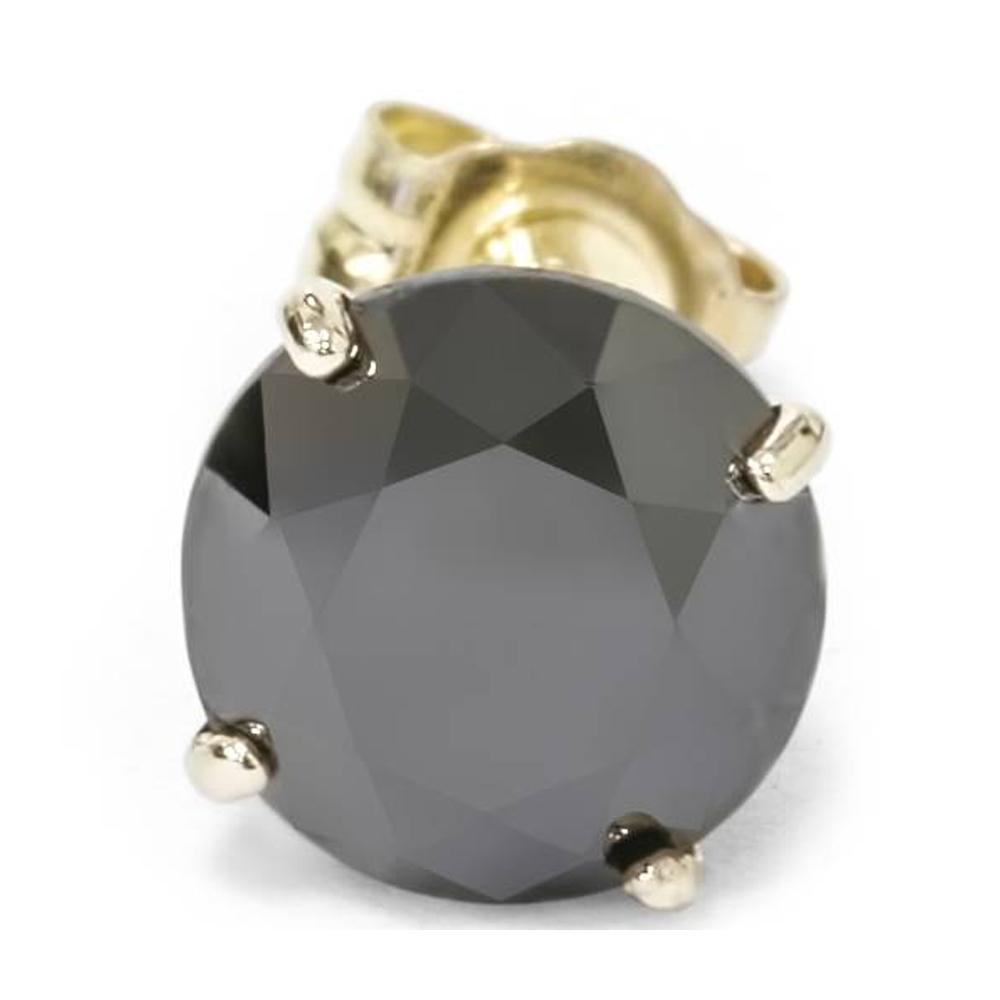 deab6f257ea91 Details about 3/4ct Black Diamond Single Stud Earring 14K Yellow Gold