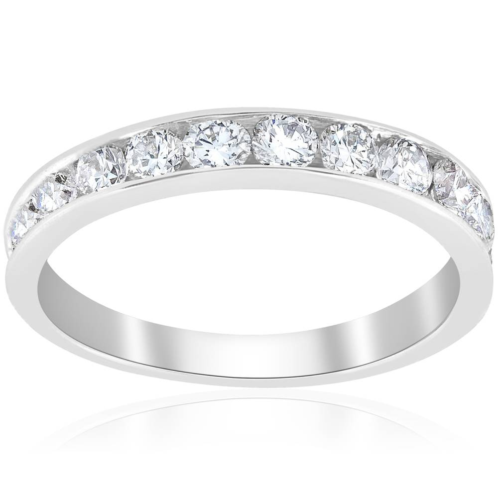 White Gold Wedding Rings For Women With Diamonds 1ct Diamond Wedding Ri...