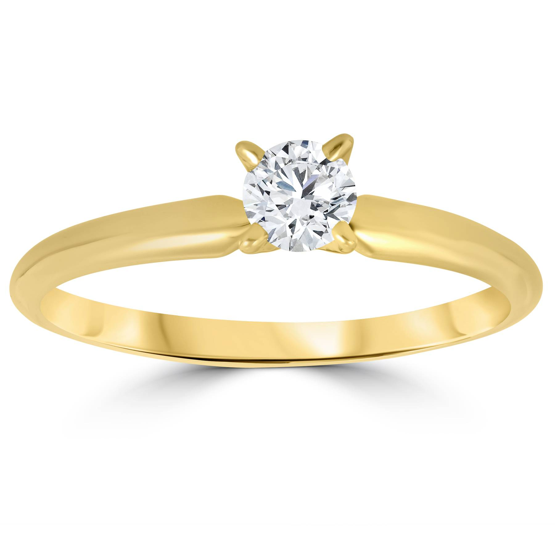 1/3ct Round Diamond Solitaire Brilliant Cut Engagement ...