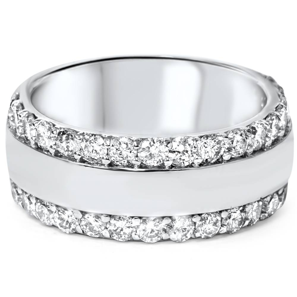 White Gold Wedding Rings For Women With Diamonds 2 3/4ct Diamond Double...