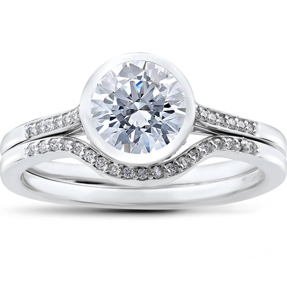 1/4 ct Lab Grown Diamond Aria Engagement Ring Setting & Matching Wedding Band