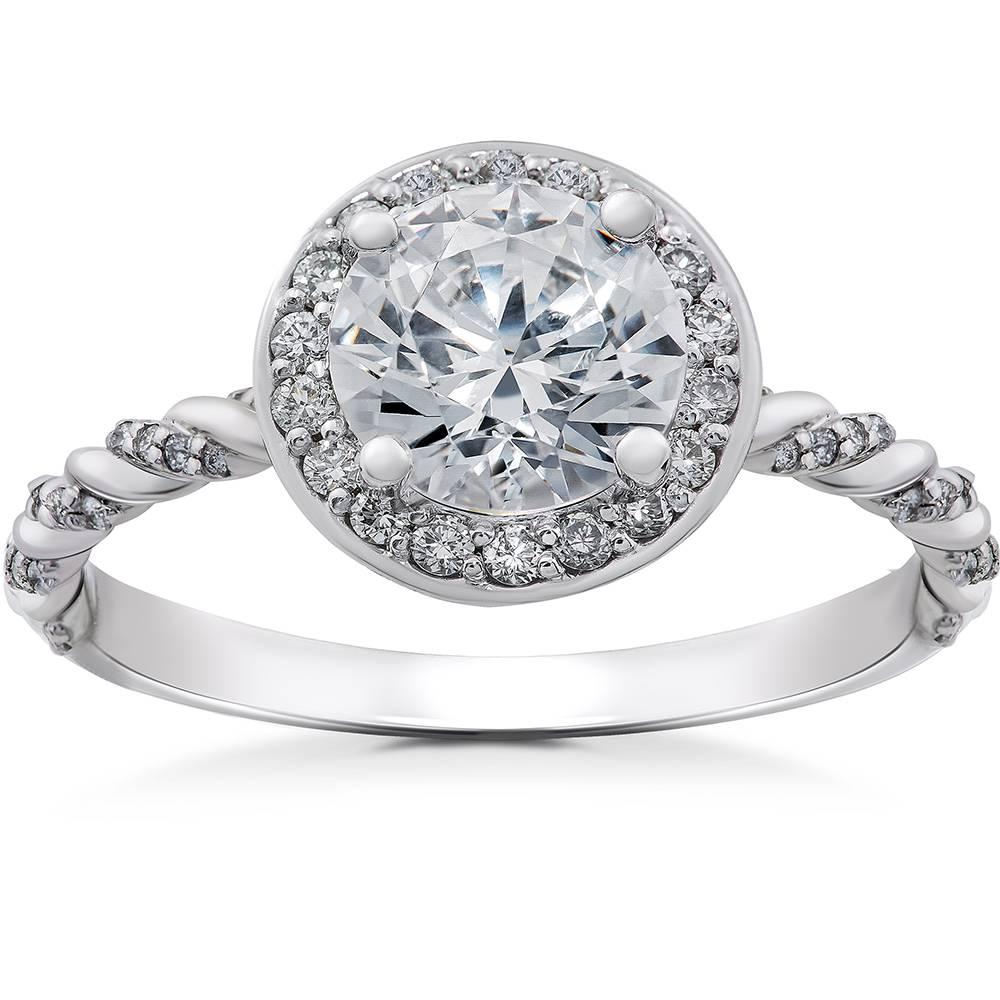 1/3ct Diamond McKenna Halo Engagement Ring Setting