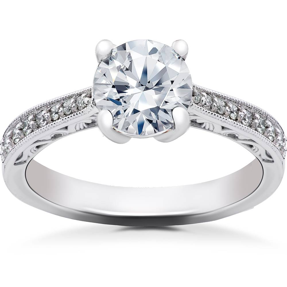 1/6 ct Diamond Angelica Vintage Engagement Ring Setting