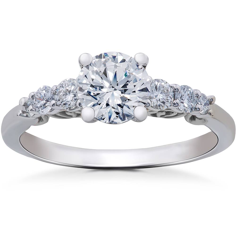 3/8 ct Round Diamond Engagement Ring Setting