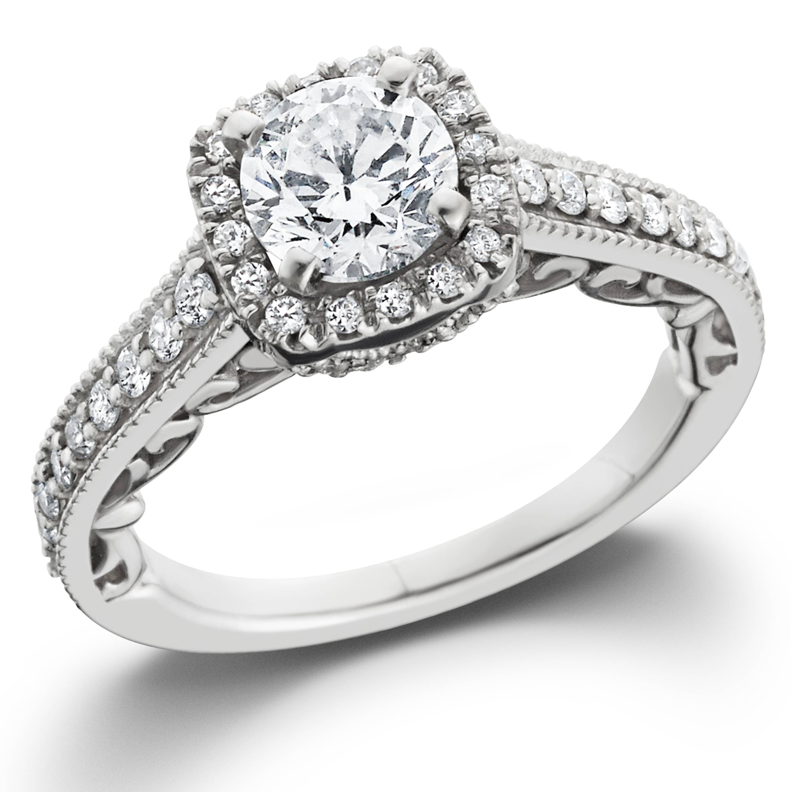 wedding rings diamond 7 8ct cushion vintage halo engagement ring 14k 1022