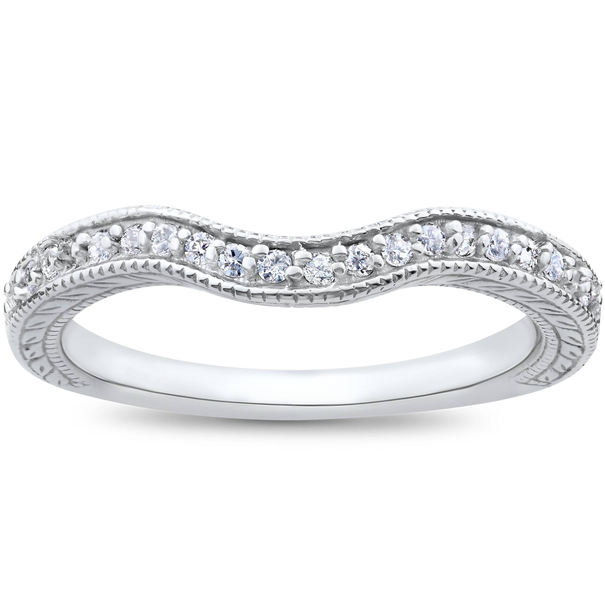 diamond wedding rings vintage curved contour wedding ring for engagement 3522