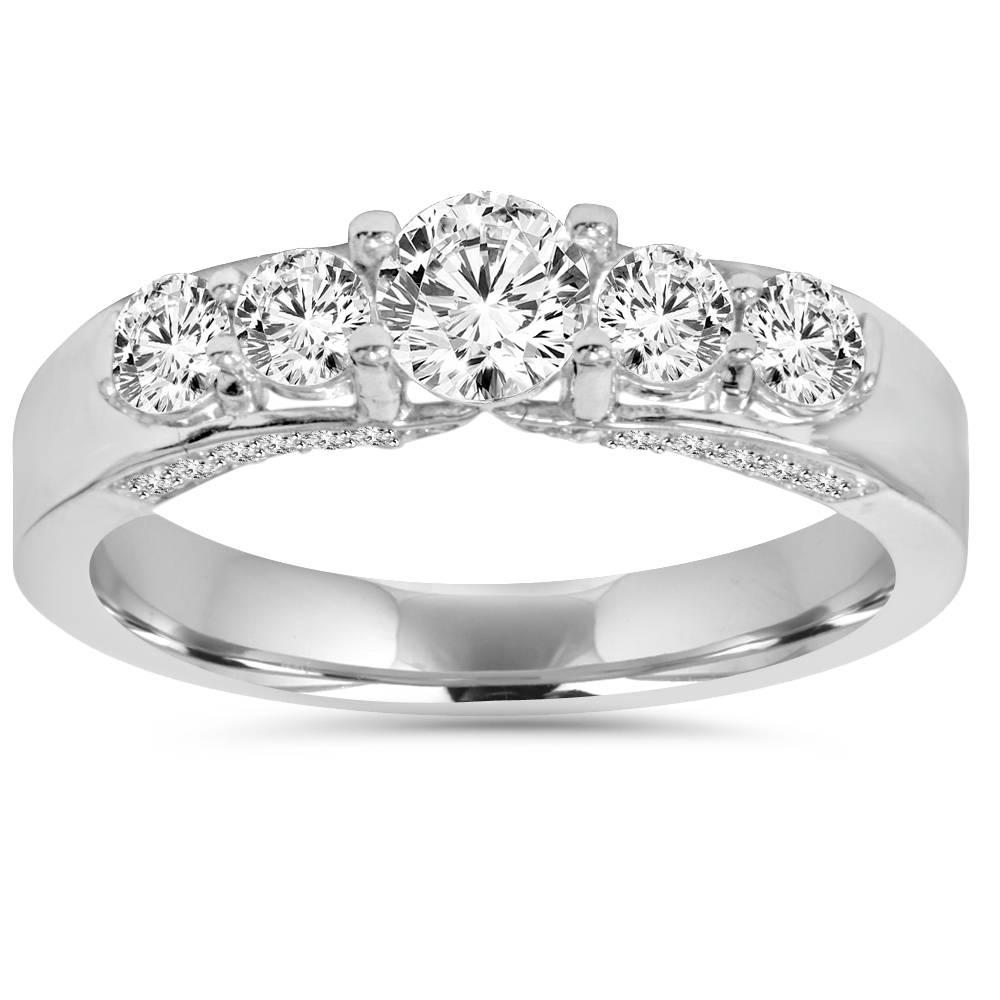 Vintage1ct-Genuine-Round-Diamond-Engagement-Ring-14K-White-Gold-Solitaire-Cut