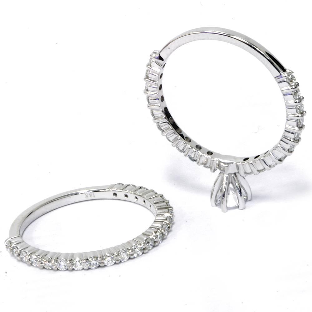 Matching Diamond Engagement And Wedding Ring 1 46ct: 1 Ct Diamond Engagement Matching Wedding Ring Set White