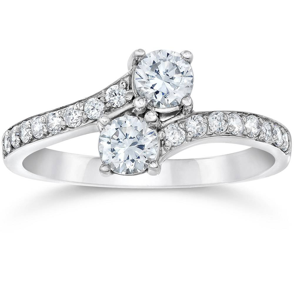 4 Ct 2stone Forever Us Lab Created Diamond Engagement Ring 14k