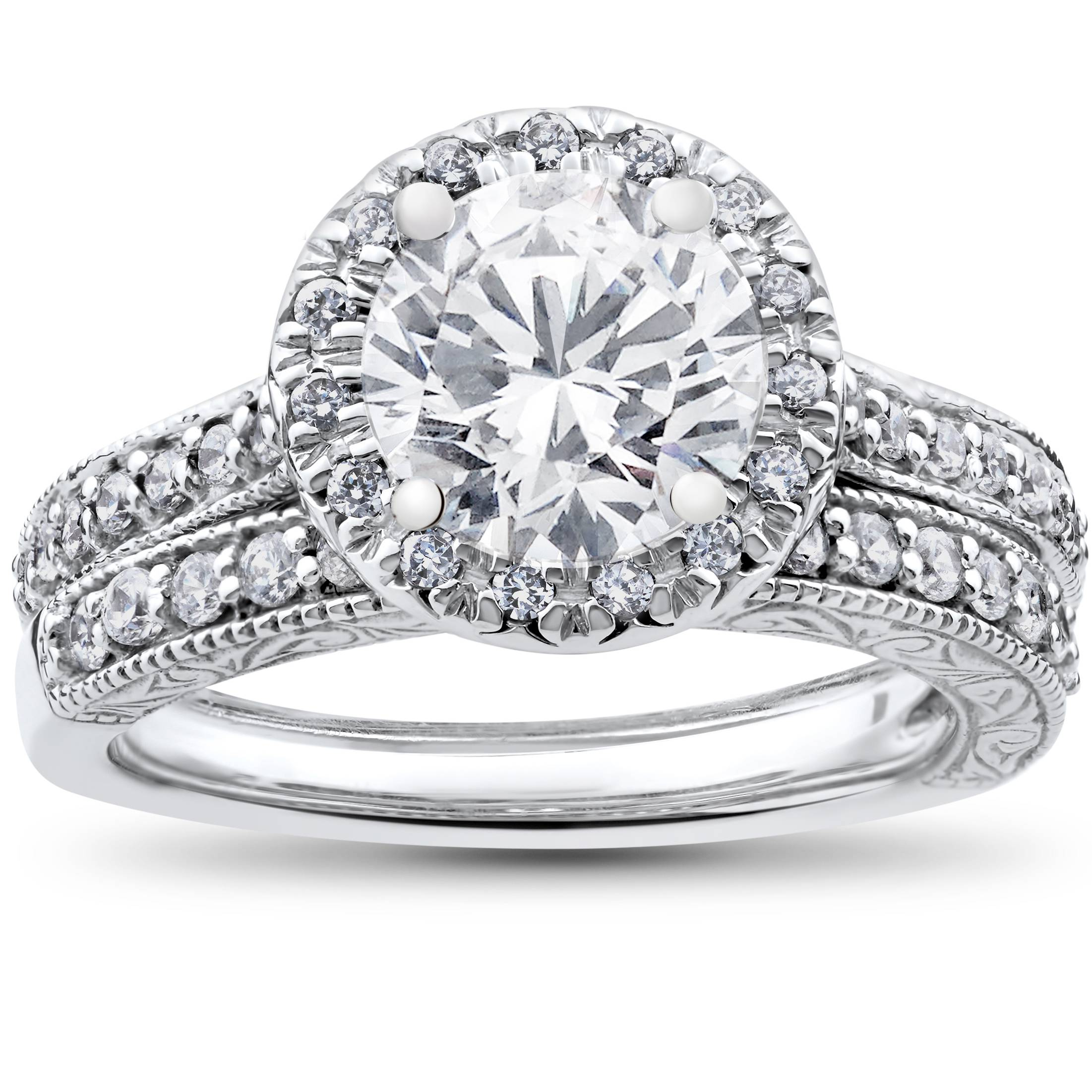 2 1 2ct halo solitaire engagement vintage matching