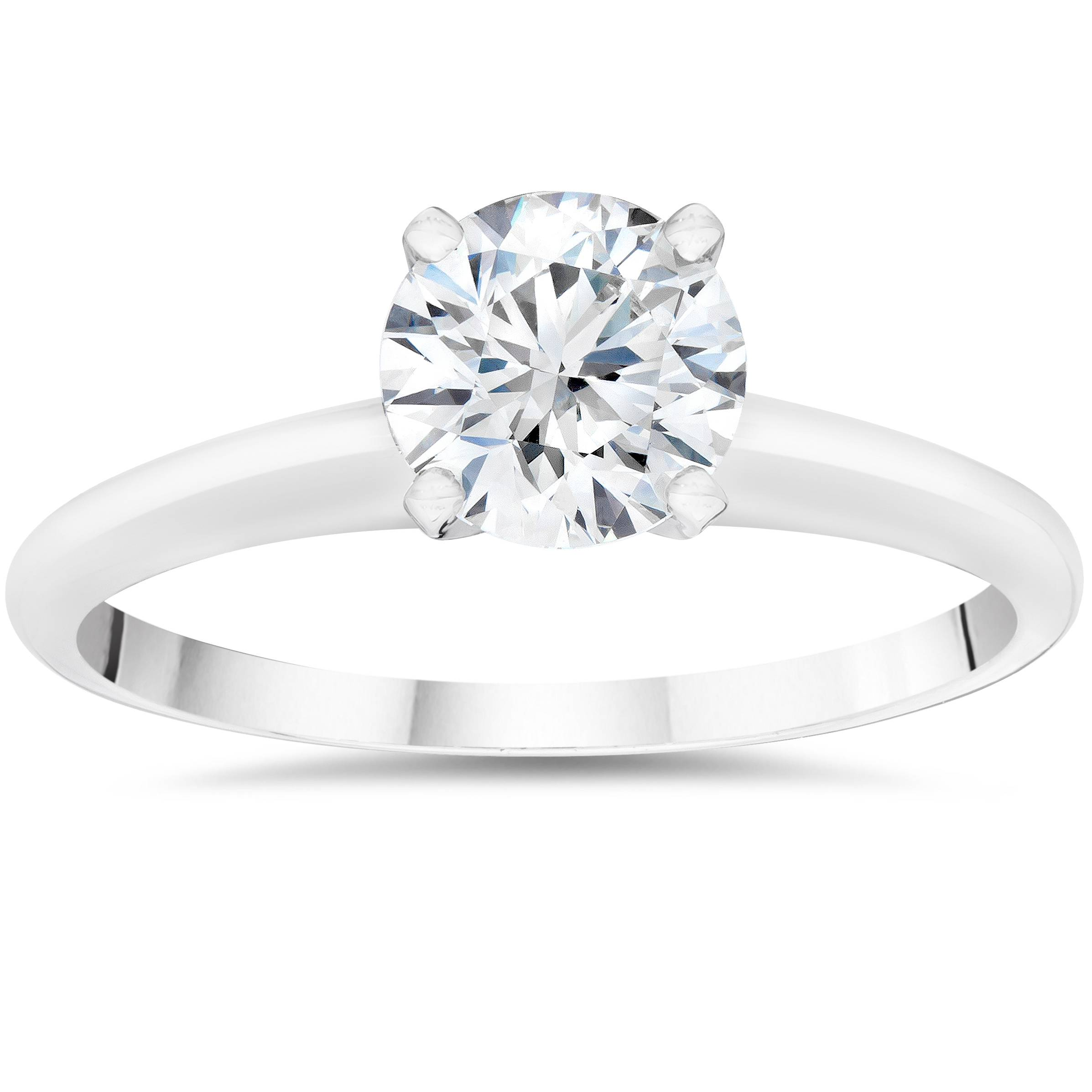 f05aa2370 Details about 1ct IGI Certified Lab Created Diamond Solitaire Engagement  Ring White Gold