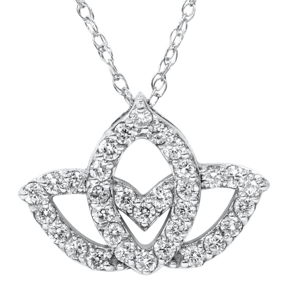 38ct diamond lotus flower pendant 14k white gold ebay 38ct diamond lotus flower pendant 14k white gold izmirmasajfo