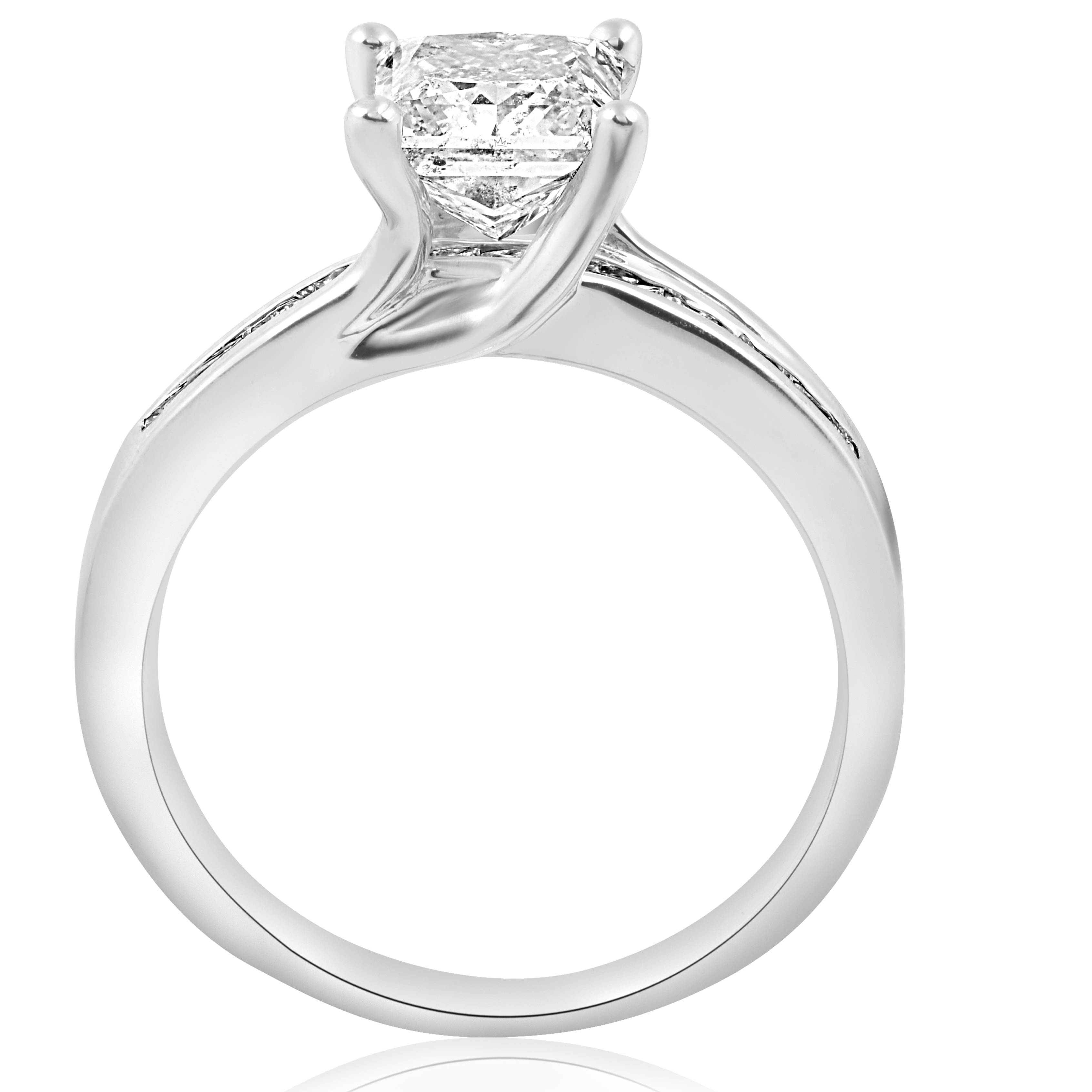 2 5 8ct princess cut enhanced engagement ring 14k