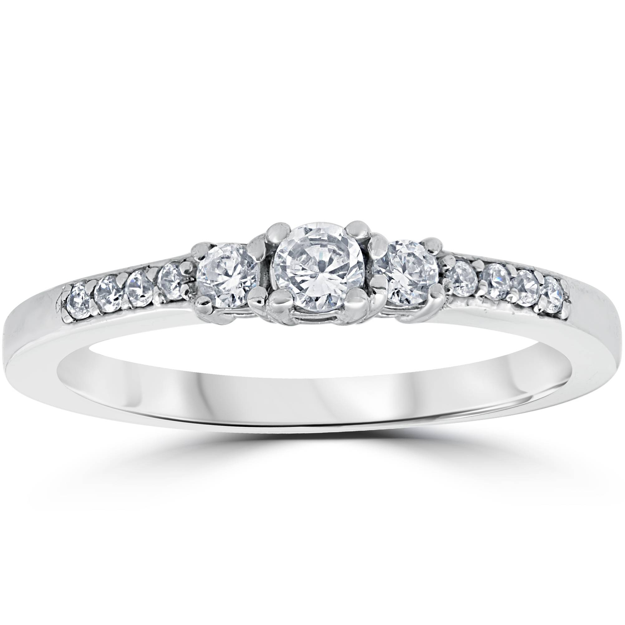 Womens 14ct Three Stone Round Diamond Engagement Ring 14k. Infected Rings. Super Cool Engagement Rings. Palladium Rings. Clamp Rings. Husband And Wife Wedding Rings. Sparkle Engagement Rings. Loin Rings. Meaningful Engagement Engagement Rings