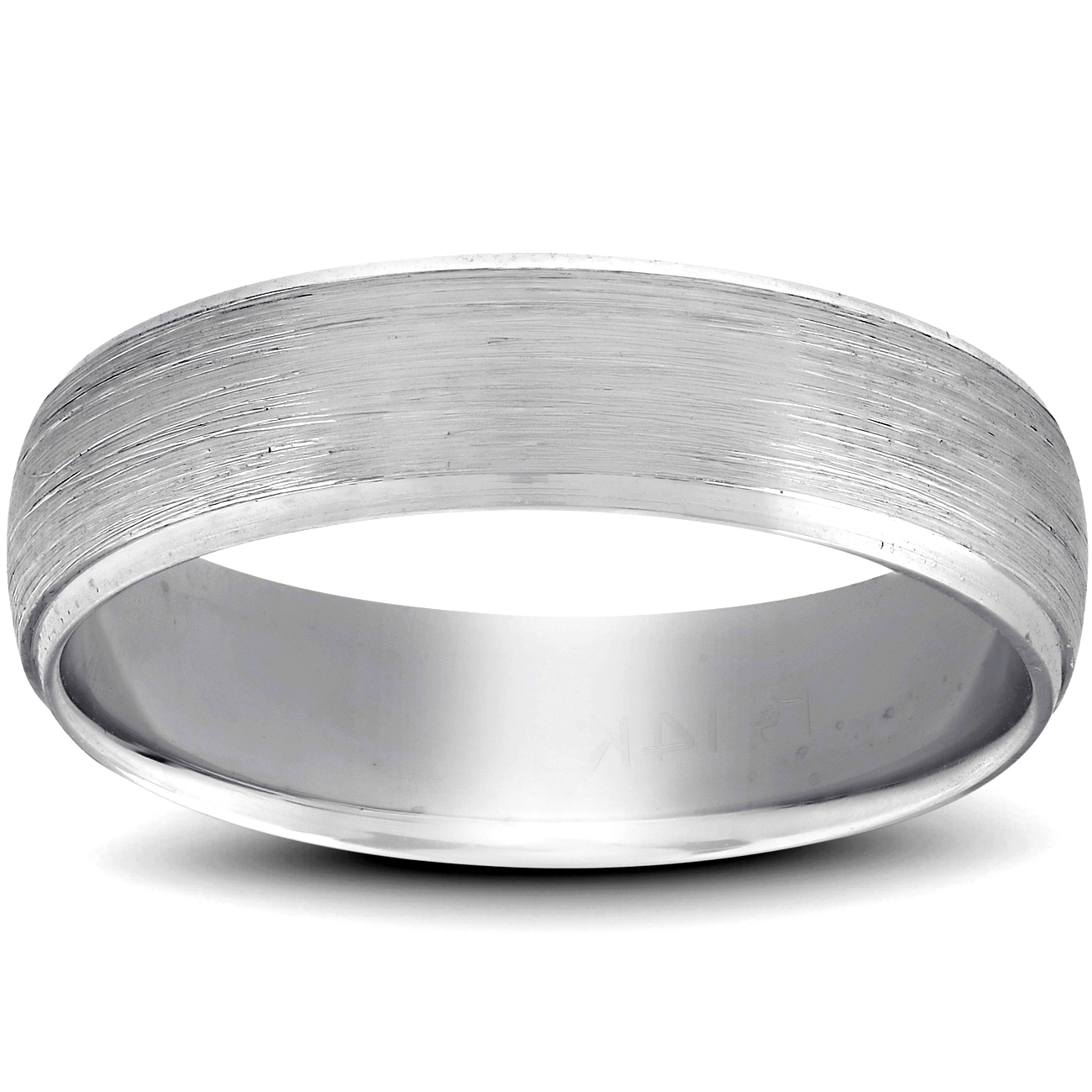 Details About Platinum Wedding Band Mens Brushed Beveled Ring 6mm Polished Edges: Beveled Edge Matte Wedding Ring At Reisefeber.org