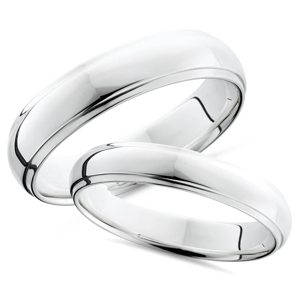 Matching Wedding Rings Platinum: Platinum Matching His Hers Polished Wedding Bands Set