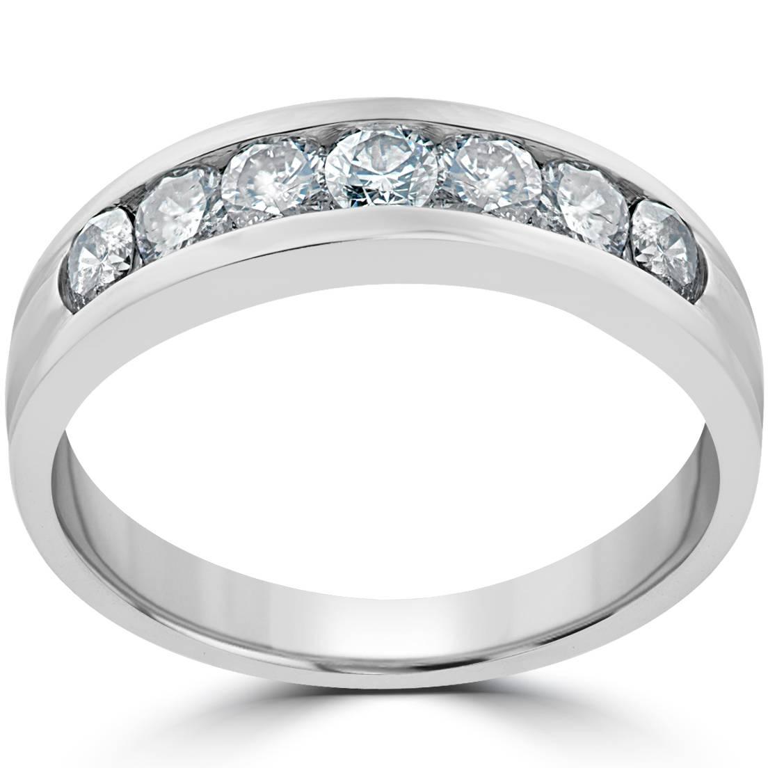 5 8 Ct Diamond Wedding Womens Band 14K White Gold Anniversary Ring
