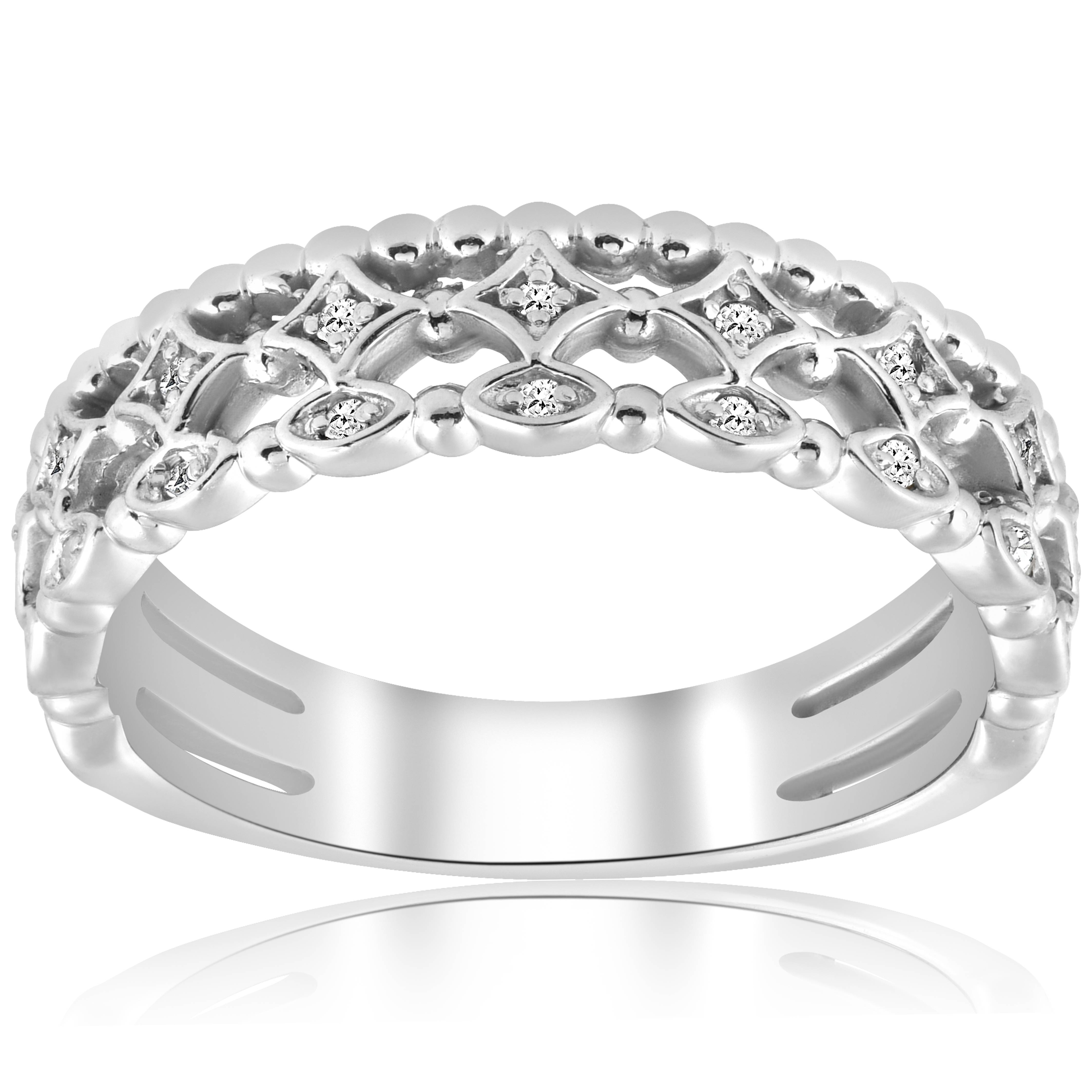 vintage diamond ring stackable white gold wedding ring. Black Bedroom Furniture Sets. Home Design Ideas