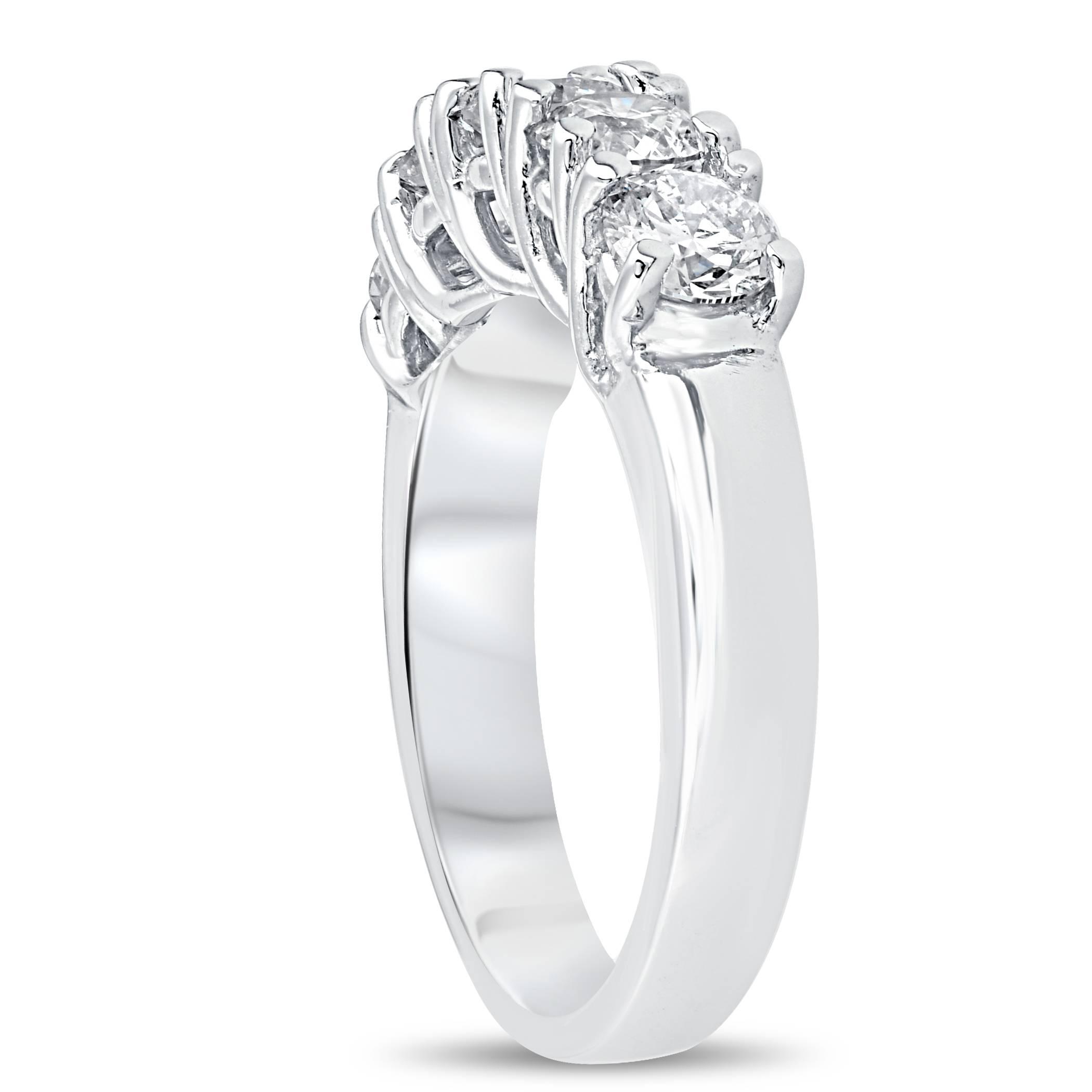 Ct real diamond wedding anniversary band womens k