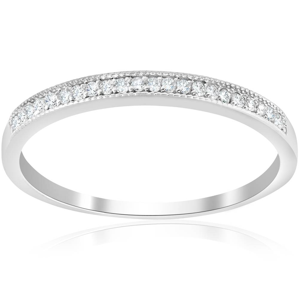 1/8ct Diamond Wedding Stackable Womens Anniversary ...