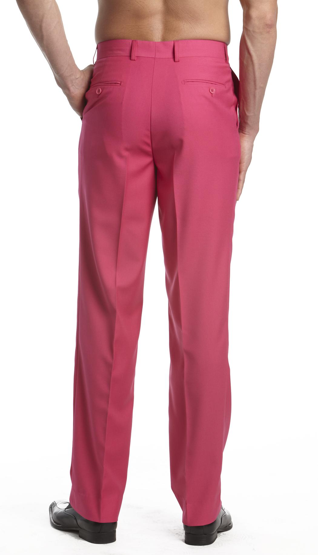 Mens Dress Pants Trousers Flat Front Slack Huge Selection Solid Colors