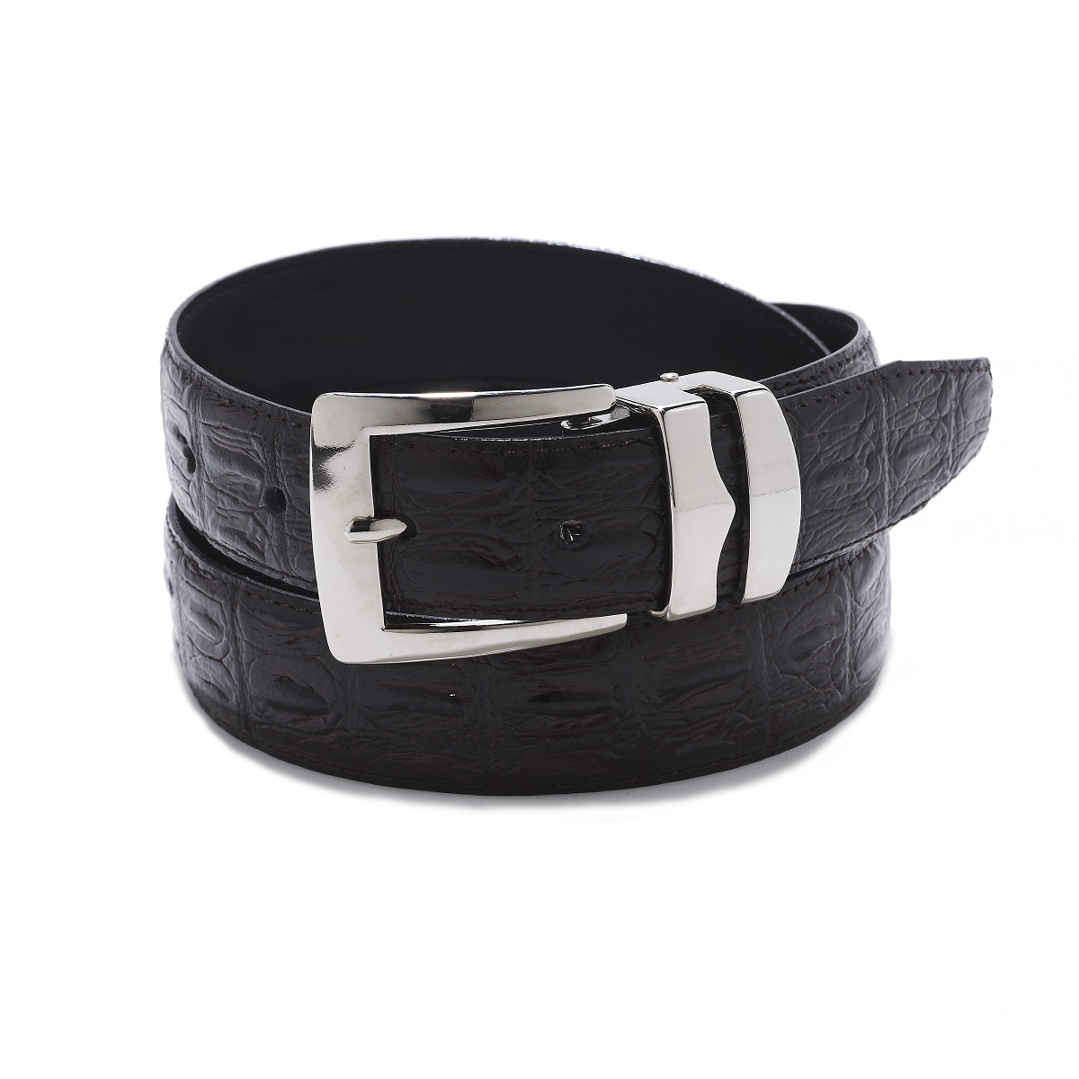 Reversible Belt Bonded Leather with Removable Gold-Tone Buckle BLACK//Black