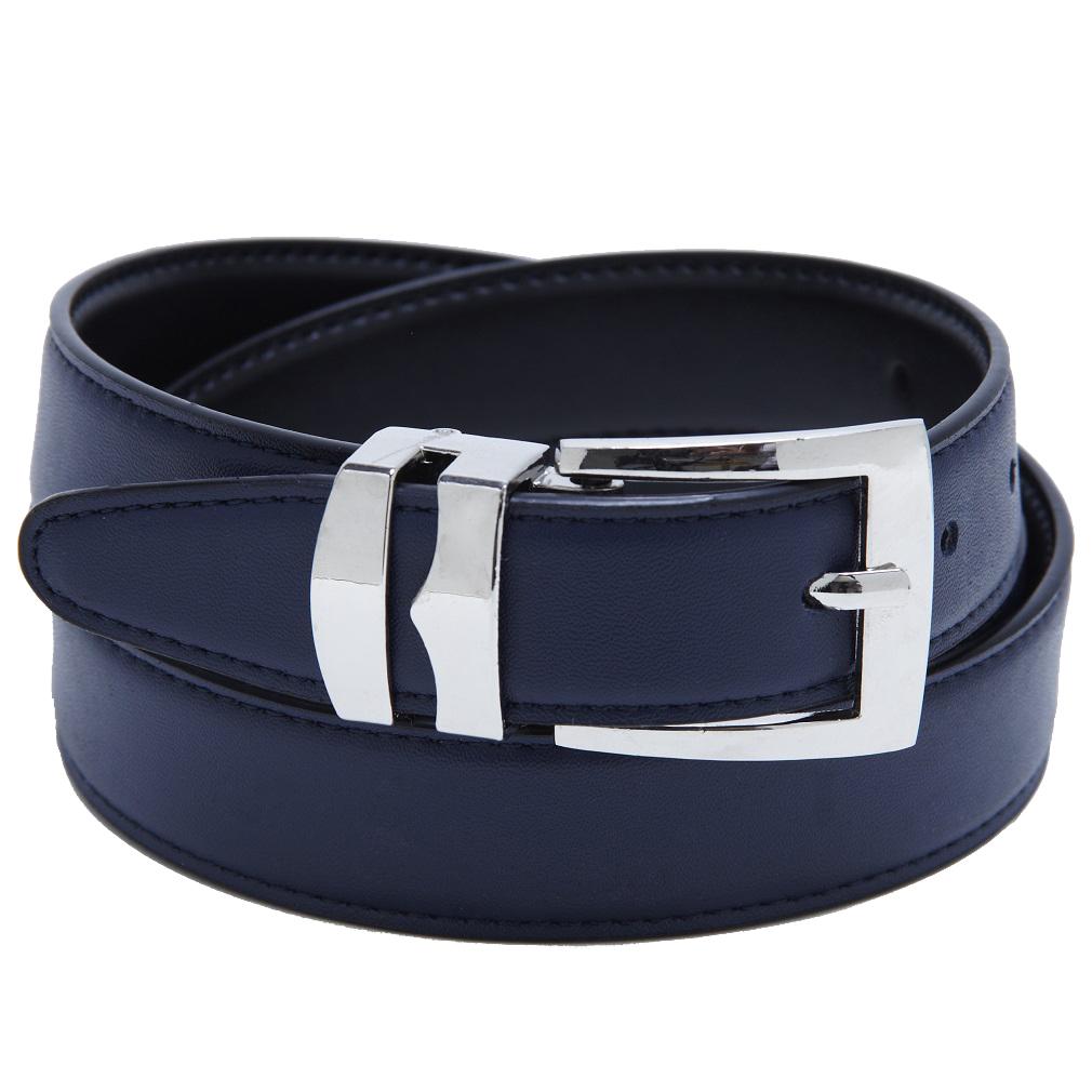 Men-039-s-Belt-Reversible-Bonded-Leather-Belts-Silver-Tone-Buckle-Over-20-Colors