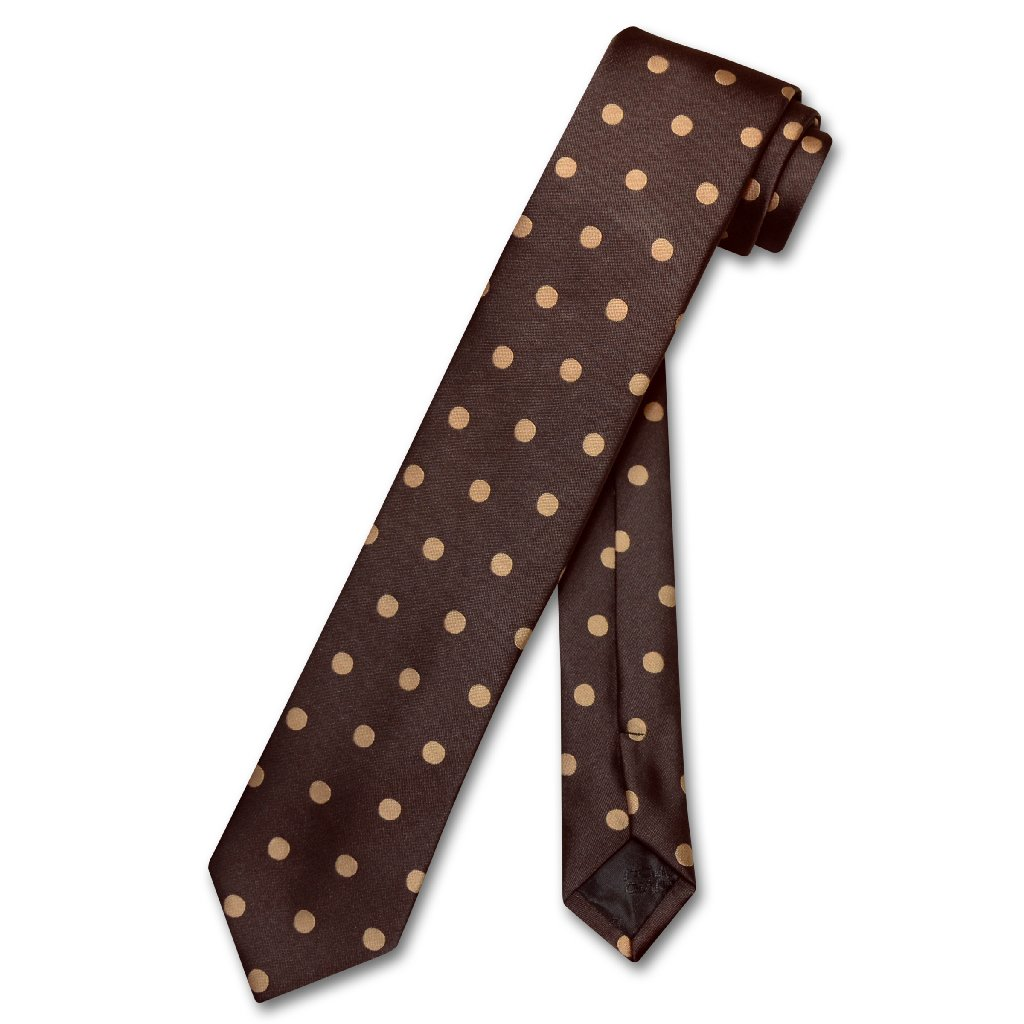 "Vesuvio Napoli NeckTie Skinny Polka Dot Design Colors 2.5/"" Men/'s Narrow Neck Tie"