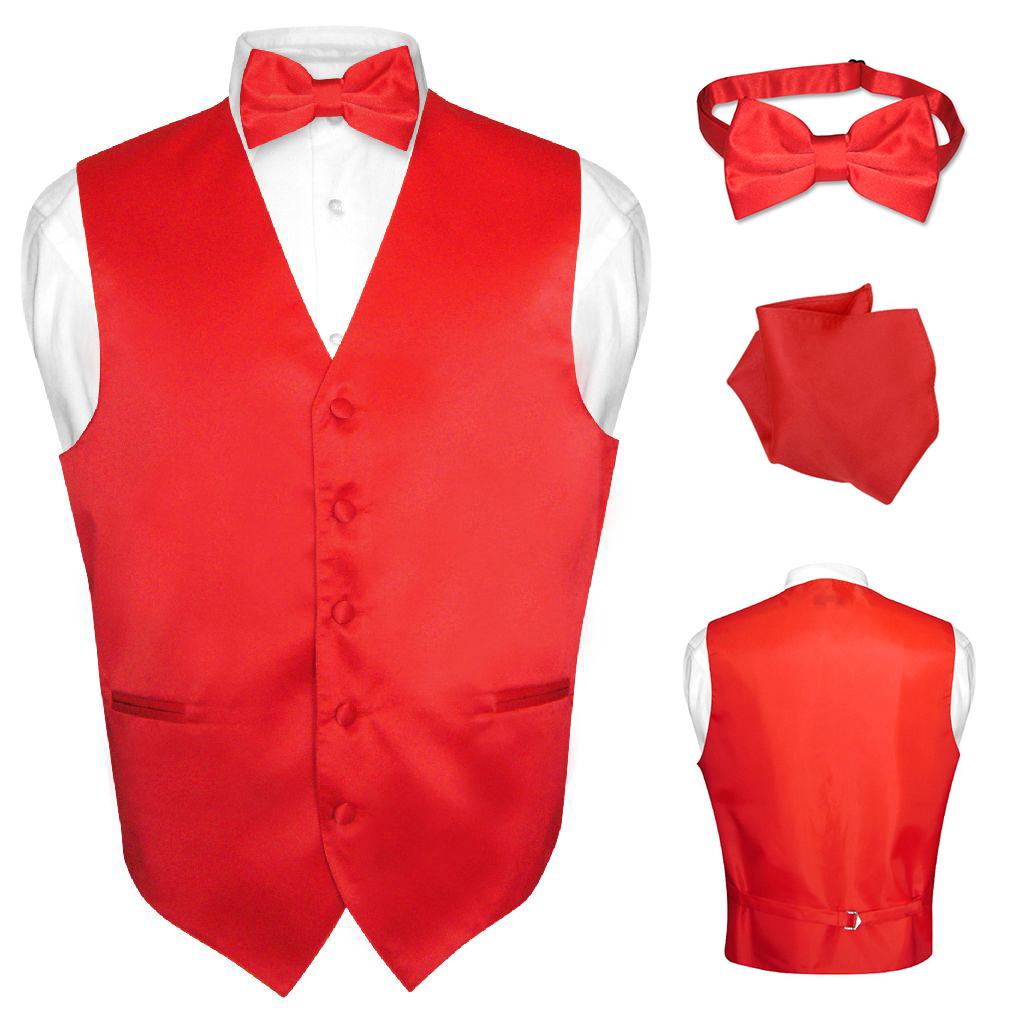 Men/'s Dress Vest BOWTie Hanky TEAL Green Color Bow Tie Set for Suit or Tuxedo