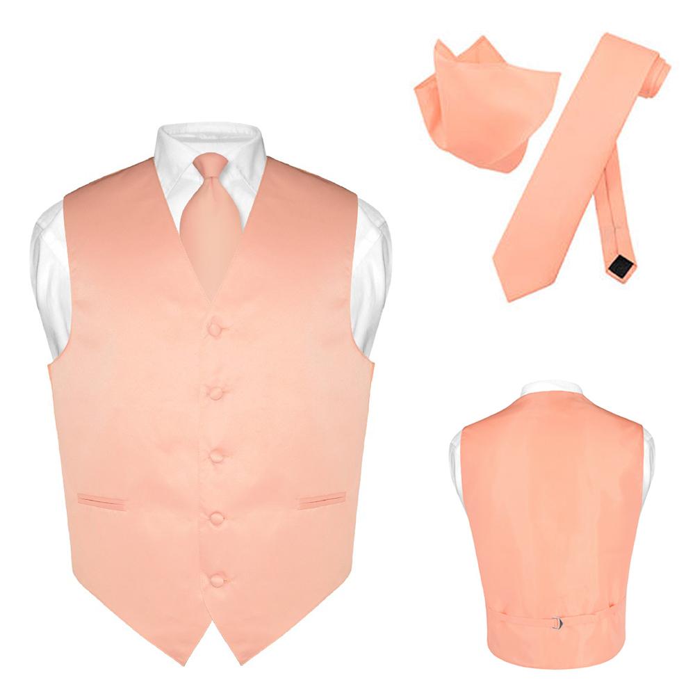 BOY/'S Dress Vest /& NeckTie Solid PINK Color Neck Tie Set for Suit or Tuxedo