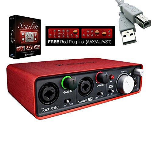 focusrite scarlett 2i2 usb audio recording interface package ebay. Black Bedroom Furniture Sets. Home Design Ideas